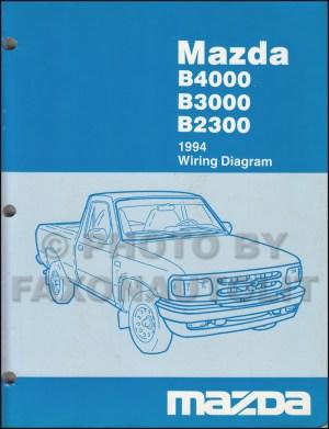 1994 Mazda B4000 B3000 B2300 Pickup Truck Wiring Diagram