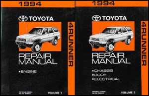 1994 Toyota 4Runner Wiring Diagram Manual Original