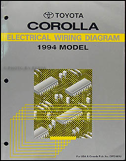 1994 Toyota Corolla Wiring Diagram Manual Original