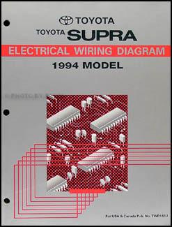 1994 Toyota Supra Wiring Diagram Manual Original