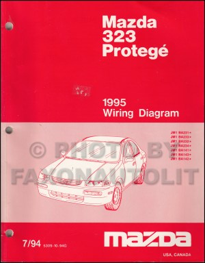 1995 Mazda 323 and Protege Wiring Diagram Manual Original