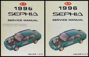 1996 Kia Sephia Repair Shop Manual 2 Volume Set Original