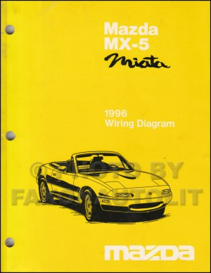 1996 Mazda MX5 Miata Wiring Diagram Manual Original