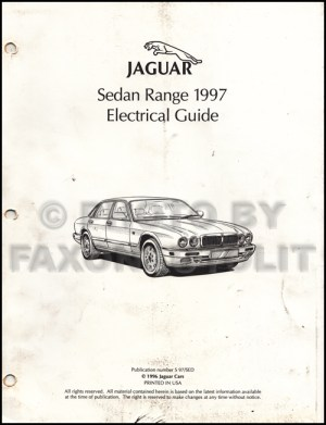 1997 Jaguar XJ6 XJ12 and XJR Owner's Manual Original