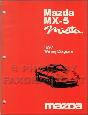 1997 Mazda MX5 Miata Wiring Diagram Manual Original