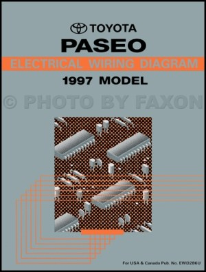1997 Toyota Paseo Wiring Diagram Manual Original