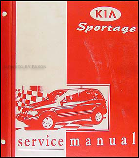 19982001 Kia Sportage Repair Shop Manual Original