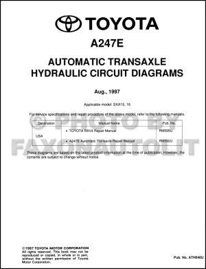 1999 Toyota AC Wiring Diagram Manual Original Corolla