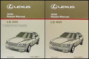 1998 Lexus LS 400 Repair Shop Manual Original 2 Volume Set