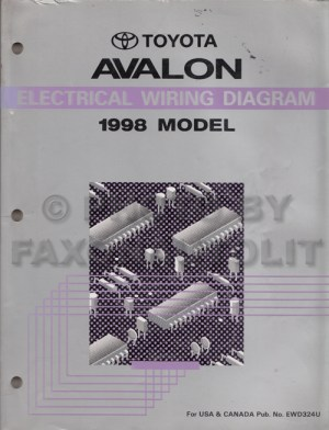 1998 Toyota Avalon Wiring Diagram Manual Original