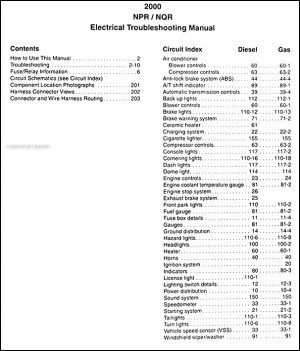 2000 Electrical Troubleshooting Manual NPR NQR W3500 W4500