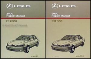 2000 Lexus ES 300 Repair Shop Manual Original 2 Volume Set