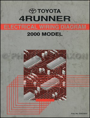 2000 Toyota 4Runner Wiring Diagram Manual Original