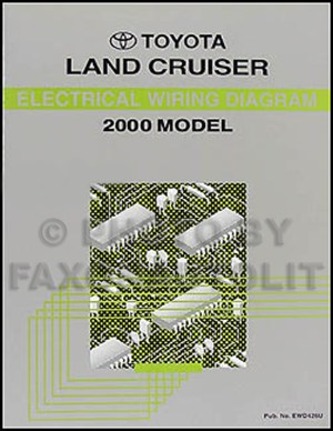 2000 Toyota Land Cruiser Wiring Diagram Manual Original