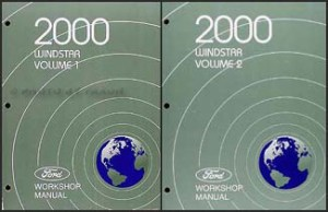 2000 Ford Windstar Repair Shop Manual 2 Volume Set Original