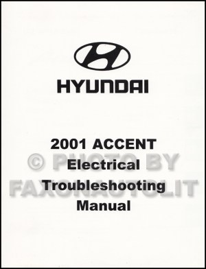 2001 Hyundai Accent Electrical Troubleshooting Manual Original