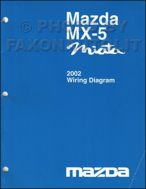 2002 Mazda MX5 Miata Wiring Diagram Manual Original