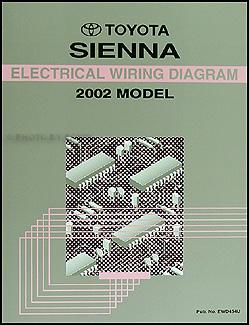 2002 Toyota Sienna Van Electrical Wiring Diagram Manual   eBay