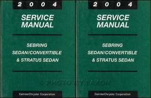 2004 Sebring & Stratus Coupe Repair Shop Manual Original 4