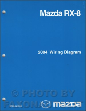 2004 Mazda RX8 Wiring Diagram Manual Original RX8