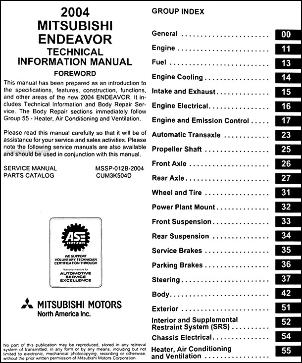 2004MitsubishiEndeavorOBM TOC aleko ac2200 wiring diagram filetype pdf diagram wiring diagrams  at creativeand.co