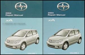 2004 Scion xA Wiring Diagram Manual Original