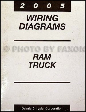 2005 Dodge Ram Pickup Truck Owner Manual Original Gas