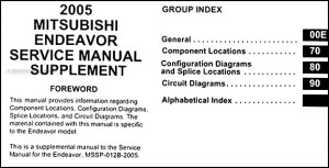 2005 Mitsubishi Endeavor Wiring Diagram Manual Original