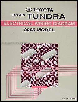 2005 Toyota Tundra Wiring Diagram Manual Original