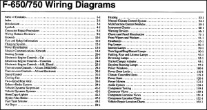 2006 Ford F650F750 Medium Truck Wiring Diagram Manual