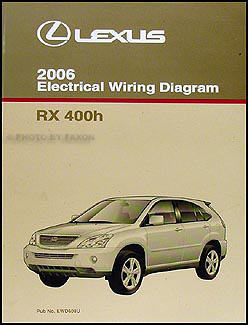 2006 Lexus RX 400h Repair Shop Manual 4 Volume Set Original Hybrid