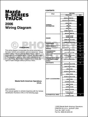 2006 Mazda BSeries Pickup Truck Wiring Diagram Manual