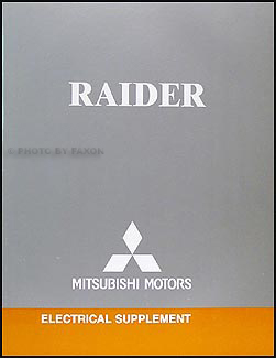 2006 Mitsubishi Raider Wiring Diagram Manual Original