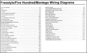 2007 Freestyle, 500, Montego Wiring Diagram Manual Original