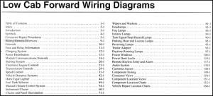 2007 Ford Low Cab Forward Truck Wiring Diagram Manual Original