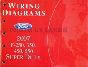 2007 Ford F250F550 Super DutyTruck Wiring Diagram Manual