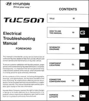 2007 Hyundai Tucson Electrical Troubleshooting Manual Original