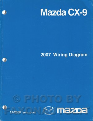 2007 Mazda CX9 Wiring Diagram Manual Original