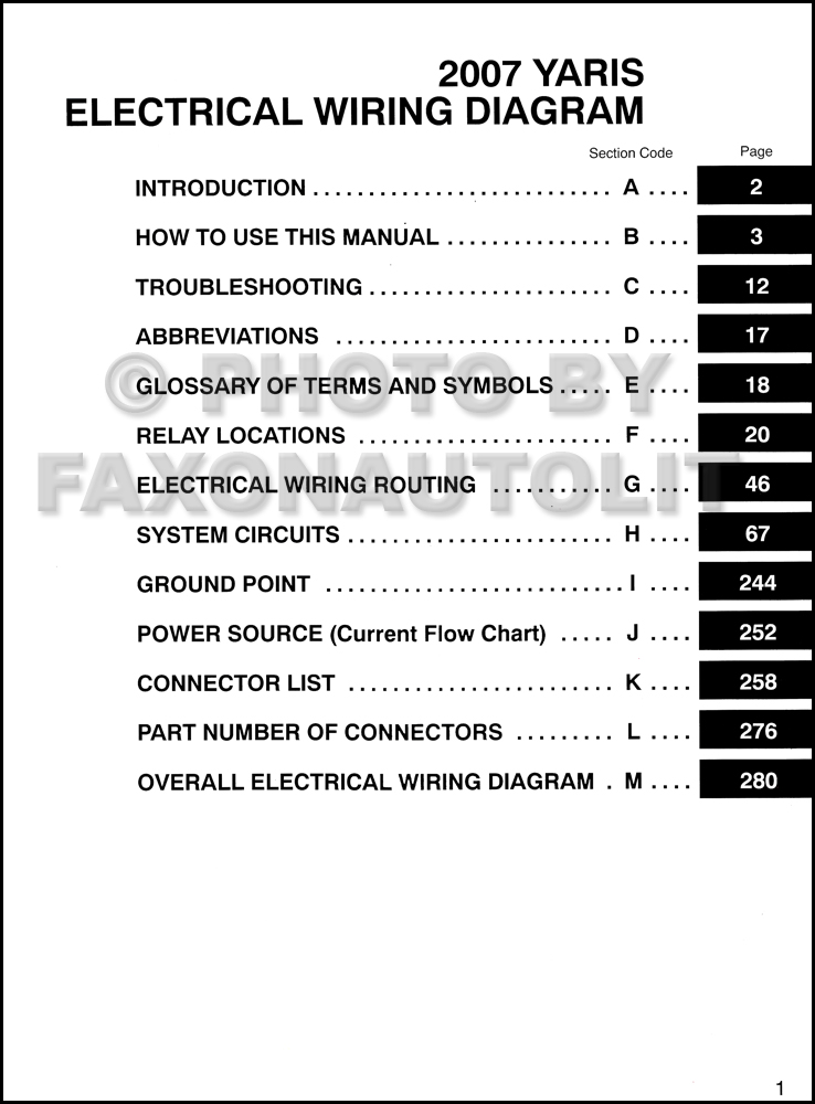 diagram toyota yaris wiring diagram pdf file pn22849 Trailer Wiring Diagram PDF 2007 toyota yaris car stereo radio