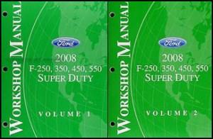 2008 Ford Super Duty F250550 Repair Shop Manual Original