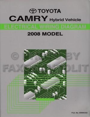 2008 Toyota Camry Hybrid Wiring Diagram Manual Original