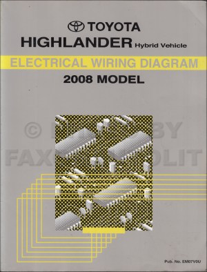 2008 Toyota Highlander Hybrid Wiring Diagram Manual