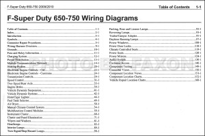 20092010 Ford F650F750 Medium Truck Wiring Diagram