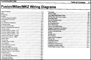 2009 Fusion Milan MKZ Wiring Diagram Manual Original
