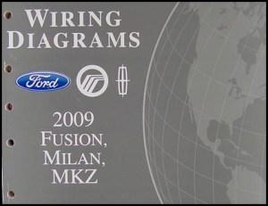 2009 Fusion Milan MKZ Wiring Diagram Manual Original