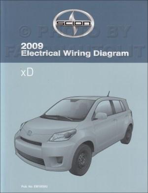 2009 Scion xD Wiring Diagram Manual Original