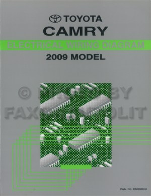 2009 Toyota Camry Wiring Diagram Manual Original