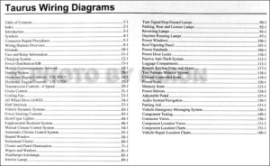 2010 Ford Taurus Wiring Diagram Manual Original