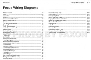 2011 Ford Focus Wiring Diagram Manual Original