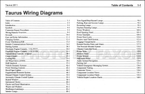 2011 Ford Taurus Wiring Diagram Manual Original